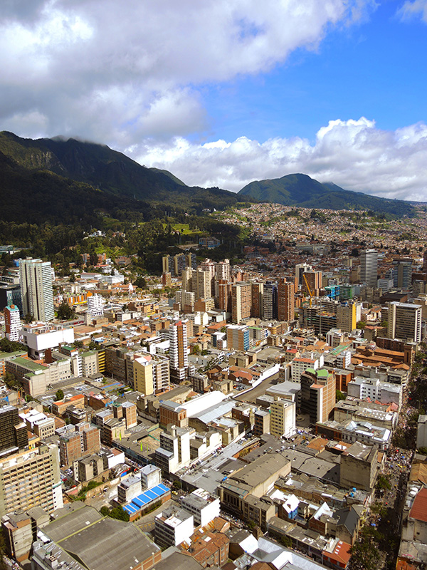 downtown in Bogota, Colombia. copy